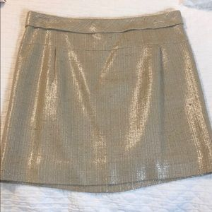 J. Crew Gold Mini Skirt!